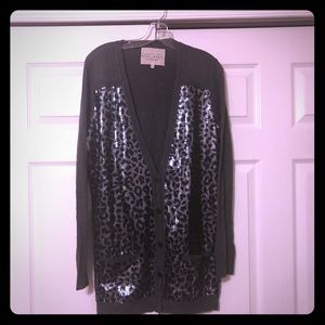 Rachel Roy leopard sequins sweater.